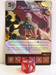 Dice-Masters-1x-133-Earth-X-Captain-America-Freedom-Fighter-Foil-The-Mighty