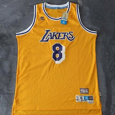 ????*RARE* CLASSIC Adidas NBA Los Angeles Lakers Kobe Bryant #8 Gold ...
