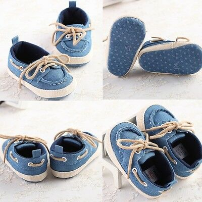Elegant Fashion Baby soft shoes boy infant toddler crib 0-18 months 3 sizes new
