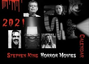 8 1//2 X 11 Wall Calendar CAMPY FUNNY 2021 Stephen King HORROR FAMILY SCRAPBOOK