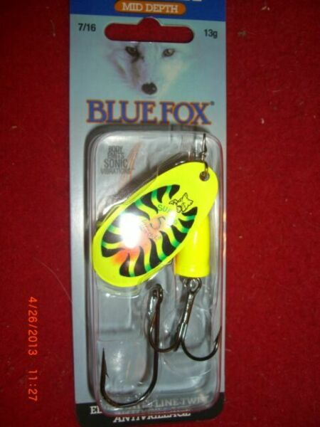 Vibrax Nordic Flake 6g G Grün Blue Fox Spinner