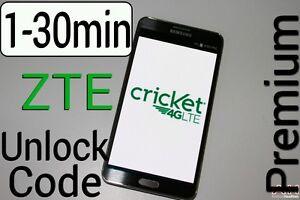 Details about Unlock Code CRICKET ZTE Z832 Z851 Z983 Z813 Z815 Z965 Z956  Z959 Z988 Z740g