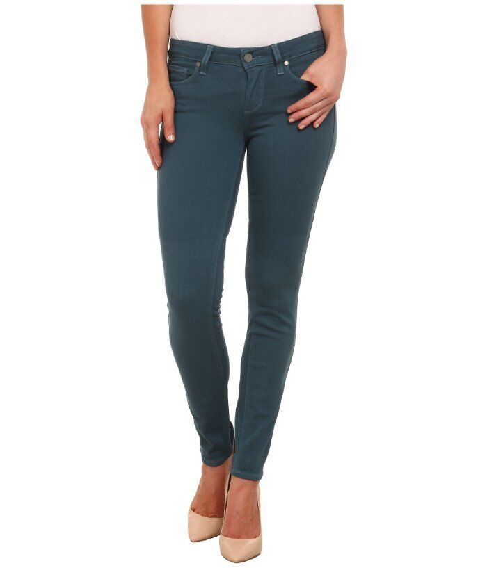 189 Paige Denim Faded Pine Verdugo Mid Rise Ultra Skinny Stretch Jeans NWT P308
