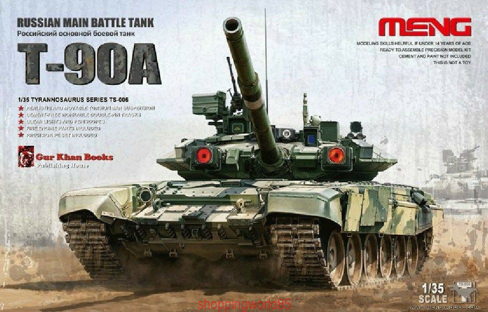 Meng Model 1 35 TS-006 Russian Main Battle Tank T-90A