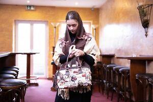 Gobelin-Tasche-im-Paris-Style-Handtasche-Shopper-Henkeltasche-Schultertasche-NEU