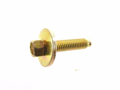 8mm Hex 20 pcs M6-1.0mm x 28mm Long GM Truck Body Bolts /& U-nut Clips #138