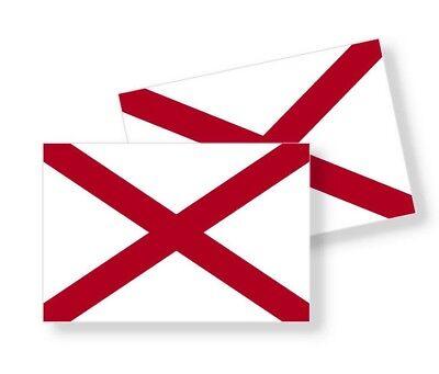 5 YR VINYL STICKER DECAL ALABAMA STATE FLAG