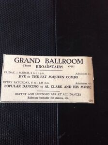 6212 Ephemera 1963 Margate Advert Grand Ballroom Pat Mcqueen Combo Al Clark - <span itemprop=availableAtOrFrom>Leicester, United Kingdom</span> - Returns accepted Most purchases from business sellers are protected by the Consumer Contract Regulations 2013 which give you the right to cancel the purchase within 14 days after the da - Leicester, United Kingdom