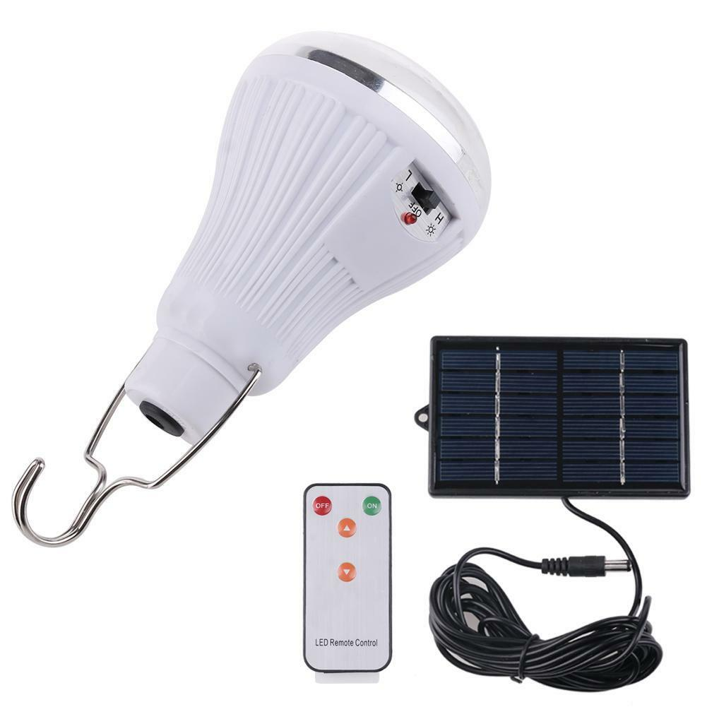 Solar power 20 led hanging light outdoor garden camping lamp remote control ebay for Remote control exterior lights