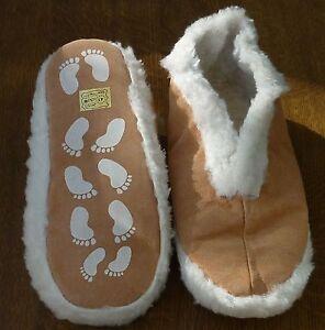 Cuir-veritable-Pantoufles-Chaussons-Femme-Homme-ABS-Stopper-beige-taille-35-52