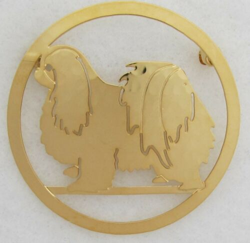Japanese Chin Jewelry Large Gold Pin by Touchstone