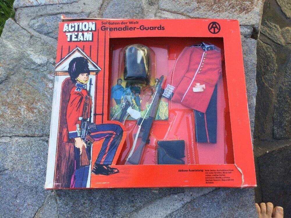 Equipo De Acción Gi Joe Granadero guardias uniforme 1970 Hasbro Nuevo En Caja