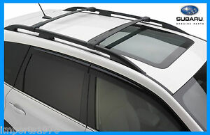 Subaru Forester Roof Rack Ebay >> 2014 2017 Subaru Forester Genuine Oem Areo Cross Bars Roof Rack