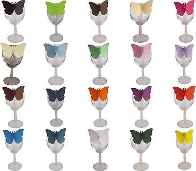 Amichevole 100 Farfalla Bianco Nome Tabella Luogo Cards, Scegli Colori, Feste, Matrimonio- Tempi Puntuali