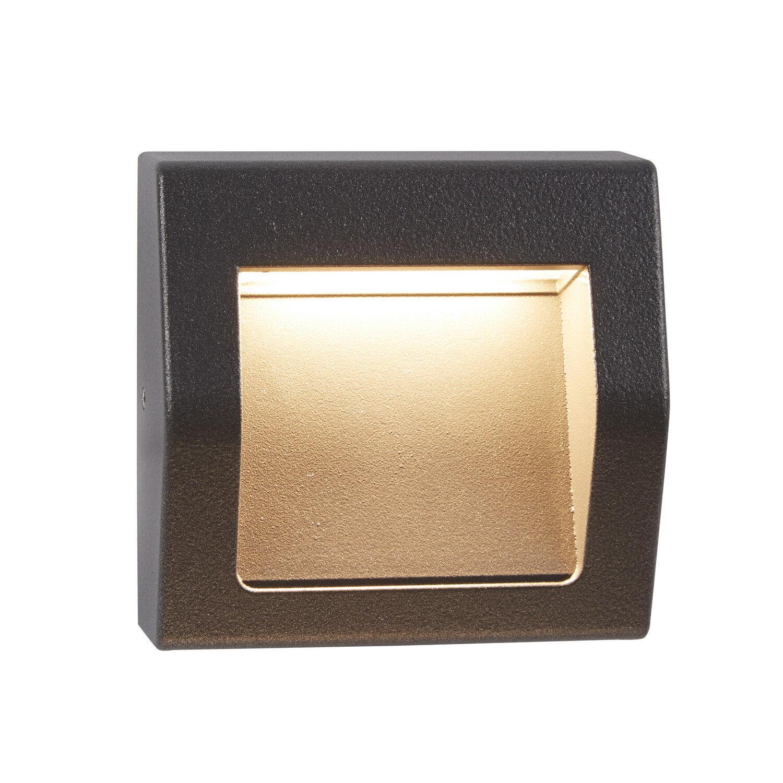 Reflector De Tobillo Al Aire Libre Pequeño Patio las vías de Jardín gris Oscuro LED Luz De Parojo