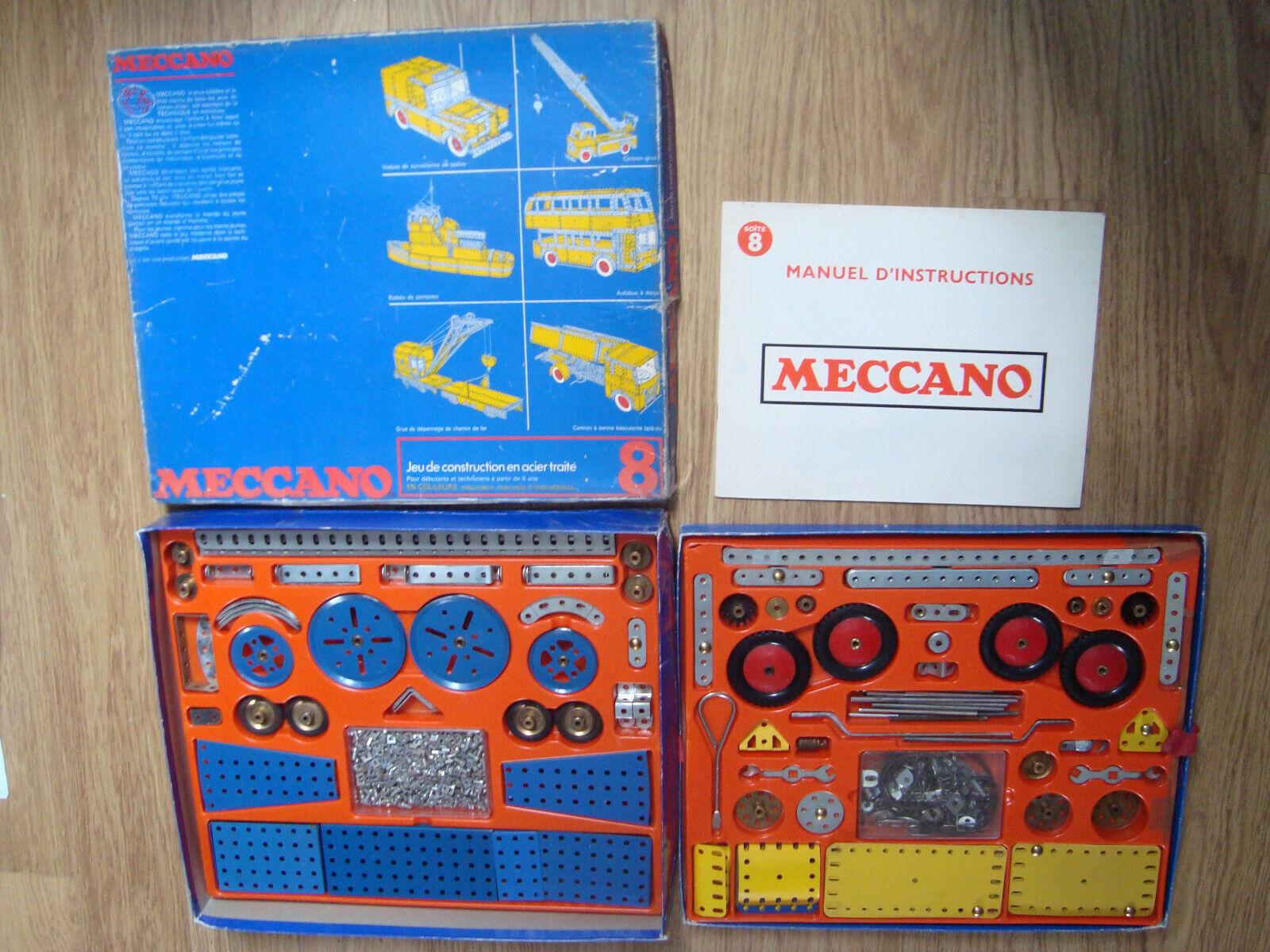 MECCANO - Boite Blaue n° n° n° 8  réf  208E complète 2602c0
