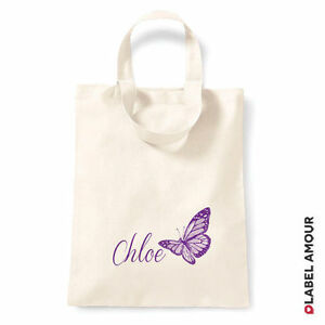 PERSONALISED-Name-Favour-Party-Gift-Canvas-Tote-Bag-Butterfly