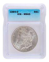 Pre 1921 Silver Morgan Dollar ICG MS65 S$1 Lot of 1