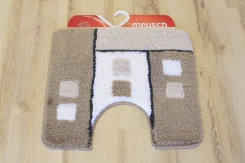 Natte tapis de bain Meusch grafiko 271 couleur taupe 55x50cm stand-wc