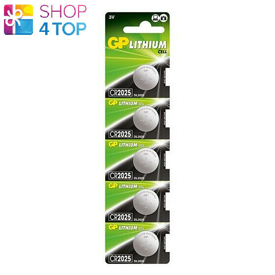5 GP Lithium Cell cr2025 dl2025 Batteries 3v Coin button EXPIRE 2029 5bl