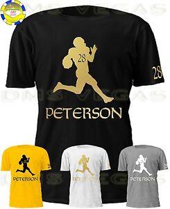 Discount New Orleans Saints Adrian Peterson Jersey Tee Shirt Men Size S XL