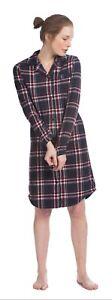 Eskimo Damen Flanell Nachthemd Marine Rot 185636022 Zu Verkaufen