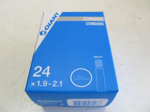 New Giant Inner Tube 24 x 1.9-2.1 89mm wall Schrader Standard 35mm