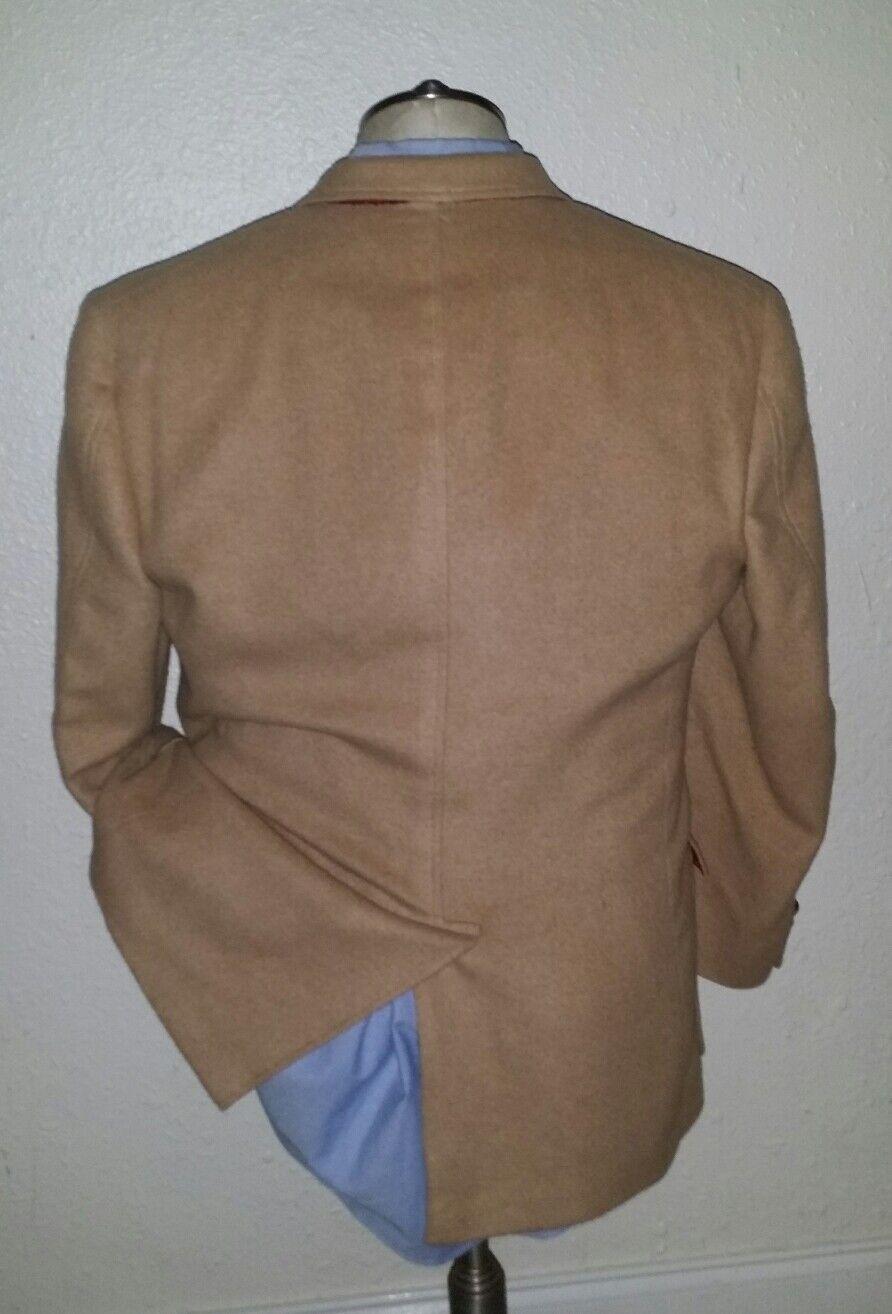 40R Tommy Hilfiger Tan plush Camel Hair Collar Contrast Collar Hair Knot Sport Coat Blazer d1a612
