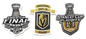reputable site a20f0 6958e Details about LAS VEGAS GOLDEN KNIGHTS INAUGURAL SEASON PLAYOFFS FINALS  JERSEY PATCH IRON ON
