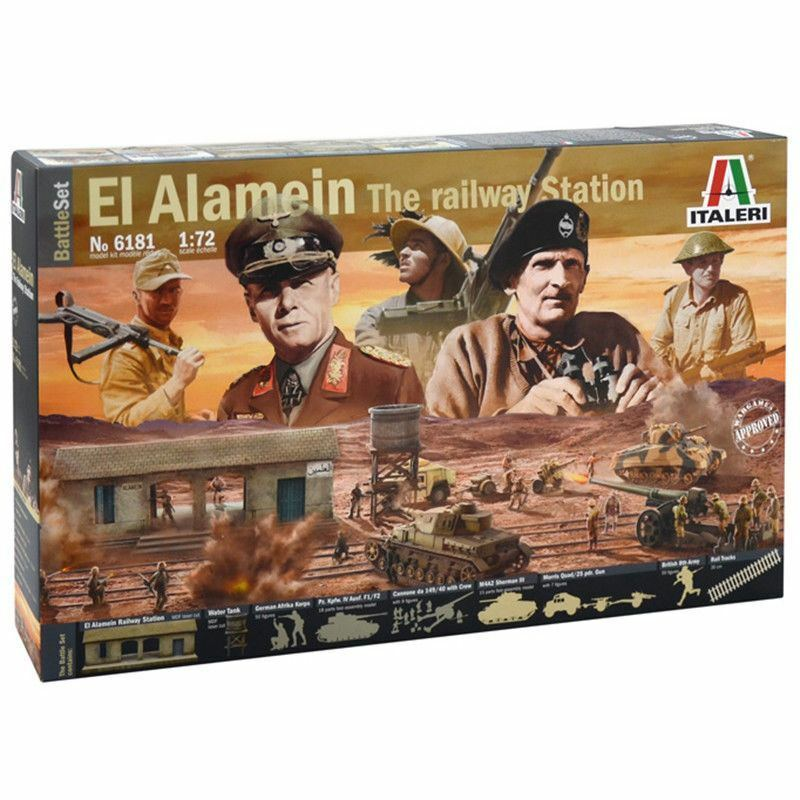 ITALERI 1 72 KIT DIORAMA BATTLE SET EL ALAMEIN THE RAILWAY STATION      ART 6181