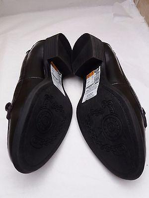 M&S Footglove Moda Cuero Negro Más amplio Ajuste Borla Mocasín Zapatos Talla 3 RRP £ 45