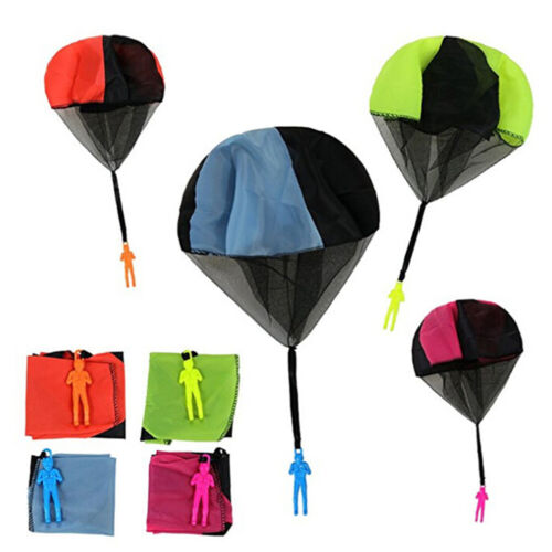 Hand throwing kids parachute toy soldier outdoor sports children toys fun gRDUK