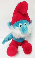 """Papa Smurf by Wallace Berrie & Co * 10"""" Plush * Circa 1979 * Used - Nearly New"""