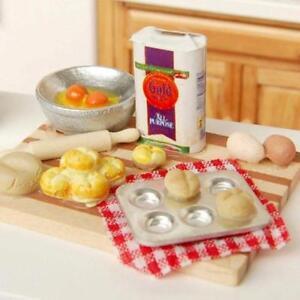 1:12 Dollhouse Miniature Baking Set Milk Egg On a Board Kitchen Bakery Food Sets