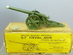 Vintage Britains Model No.1264 4.7    première version Box Vn Mib   Naval Gun