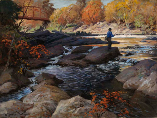 Trout Stream   by A Sheldon Pennoyer    Giclee Canvas Print Repro