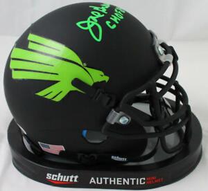 Joe Greene Autographed North Texas Flat Black Mini Helmet w/CHOF- Beckett W Auth