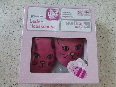 Baby Leder-Hausschuhe Gr.0-6 Mon