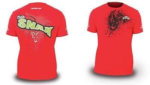Fox-Rage-Fish-Snax-T-Shirt-Groesse-S-NPR049-Raubfischt-shirt-T-Shirt-Angelshirt