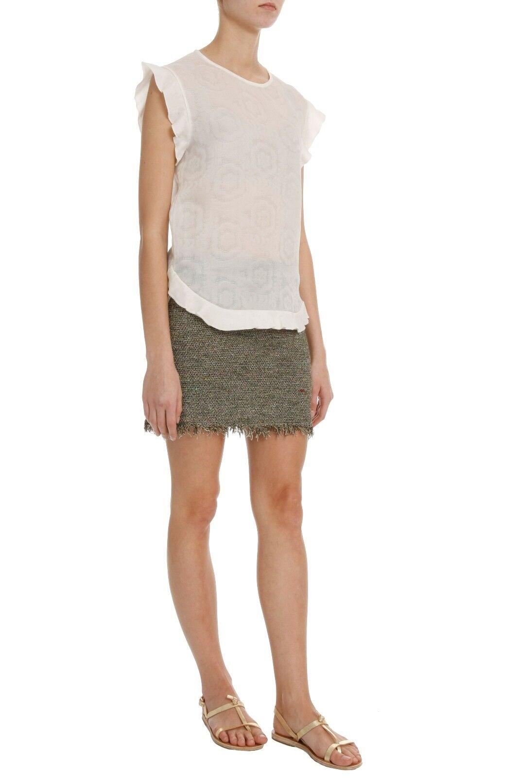 Isabel Marant Glens metallic stretch-knit tweed mini skirt FR38