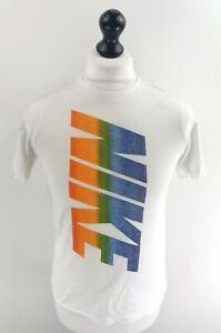 NIKE-Boys-T-Shirt-Top-L-Large-White-Cotton