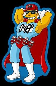 The Simpsons MAGNET Duffman Beer Company Oh Yeah Cartoon Simpson Duff Man