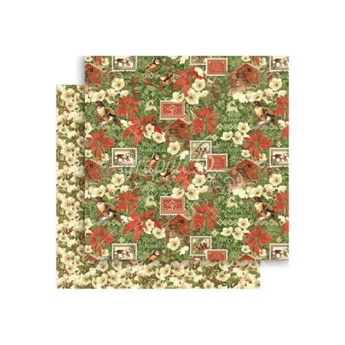 "Graphic45 Winter Wonderland 1x Double-Sided Cardstock 12X12/"" Scrappapier 30,5 cm"