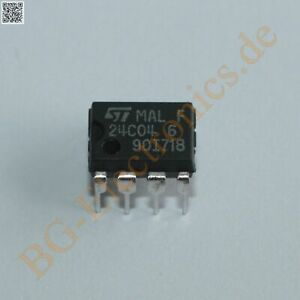Details about 5 x ST24C04B6 4 Kbit Serial I2C Bus EEPROM with User-Defined  B STM DIP-8 5pcs