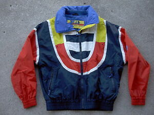 Head-Sportswear-vintage-Waterproof-Jacket-1980-COLOR-BLOCK-MENS-size-Med