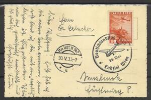 1938 AK WIEN DEUTSCHLANDFLUG NR 599  WIEN NACH INNSBRUCK  (2807)