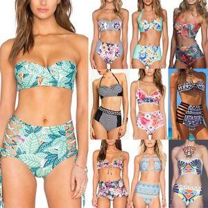 Women-High-Waist-Bandage-Bikini-Set-Push-up-Bra-Swimsuit-Bathing-Suit-Swimwear