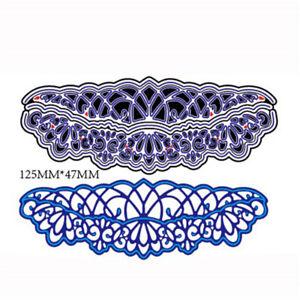5Pcs Hollow Lace Metal Cutting Die For DIY Scrapbooking Album Paper Card _S