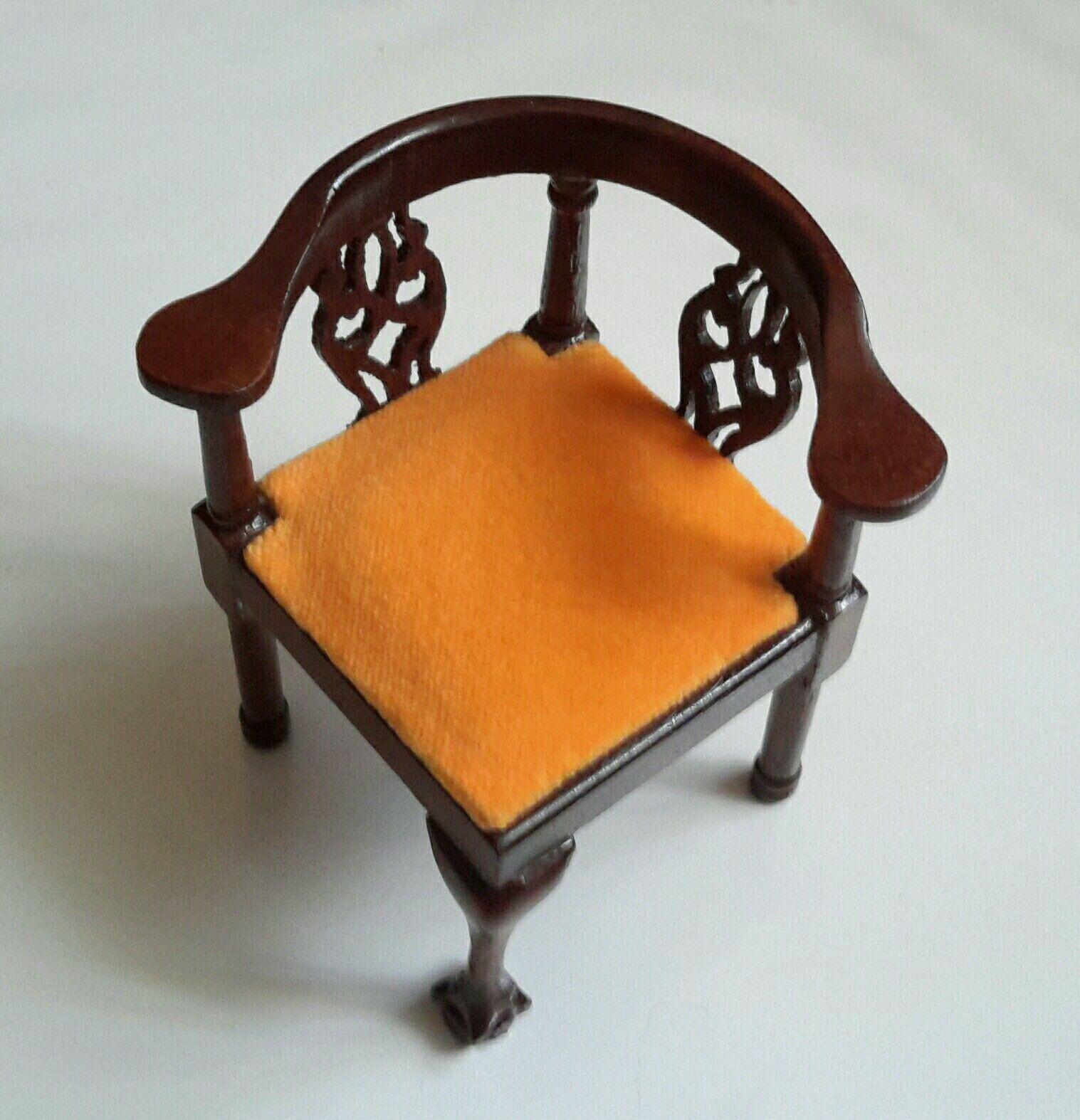 moda Nuevo Vintage Muñecas en Miniatura Queen Queen Queen Anne esquina silla de terciopelo de oro por fantástico  garantía de crédito