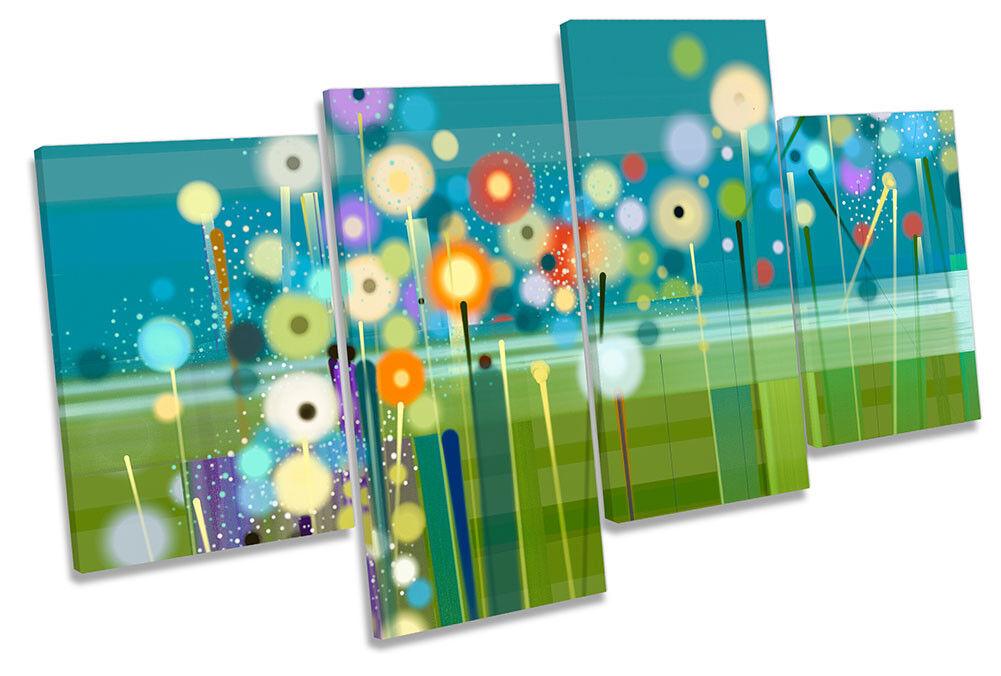 Moderno verde floreale fiori Multi a muro opera d'arte art art art print 1f3599